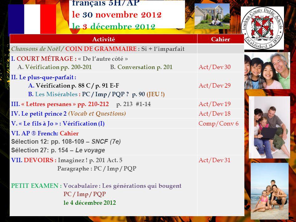 français 5H/AP Corrigeons pp.88 Act. C p. 88 Act.