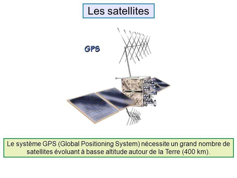 Le système GPS (Global Positioning System) nécessite un grand nombre de satellites évoluant à basse altitude autour de la Terre (400 km). Les satellit