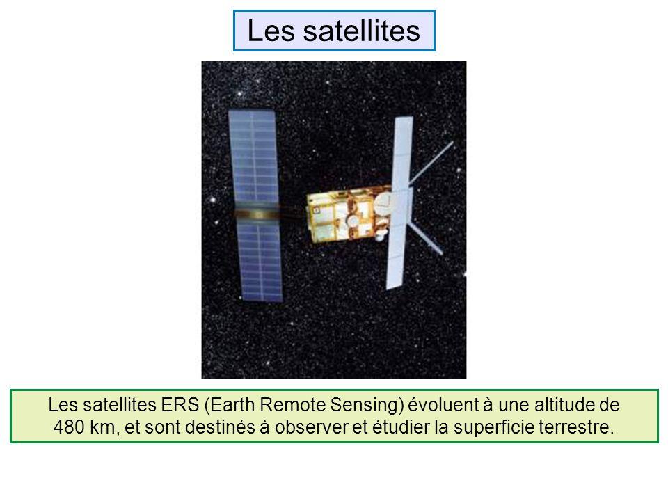 Les satellites ERS (Earth Remote Sensing) évoluent à une altitude de 480 km, et sont destinés à observer et étudier la superficie terrestre. Les satel