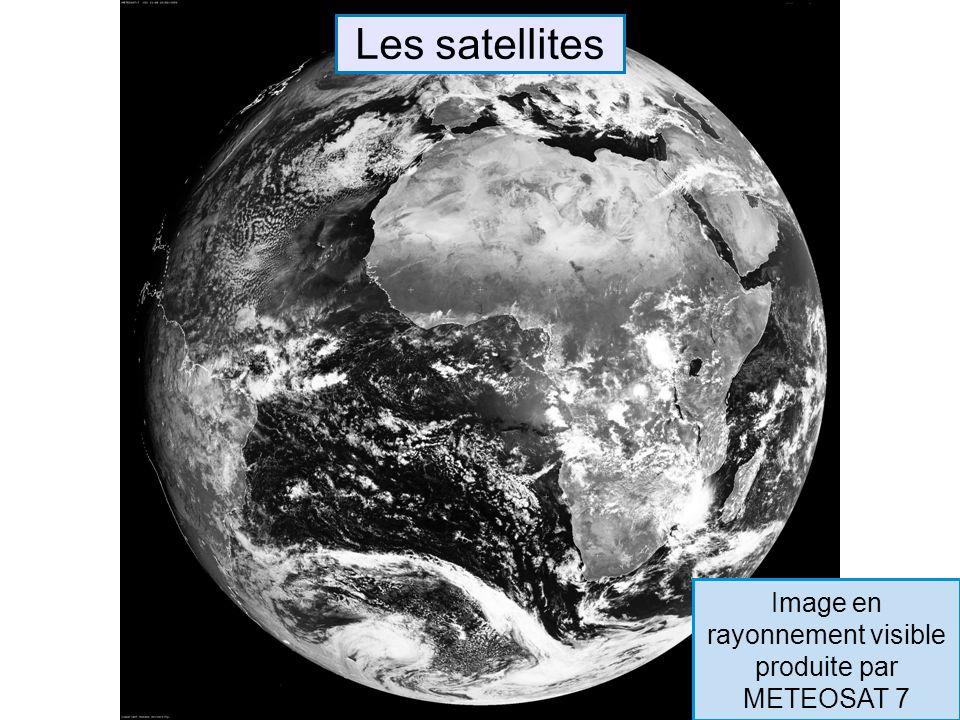 Les satellites Image en rayonnement visible produite par METEOSAT 7