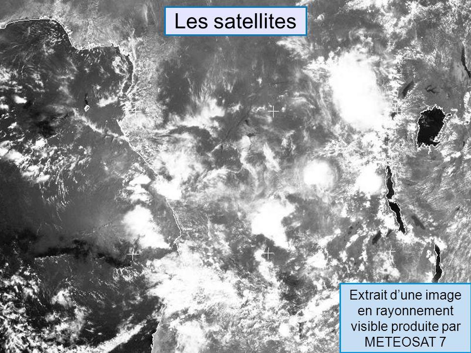 Les satellites Extrait dune image en rayonnement visible produite par METEOSAT 7