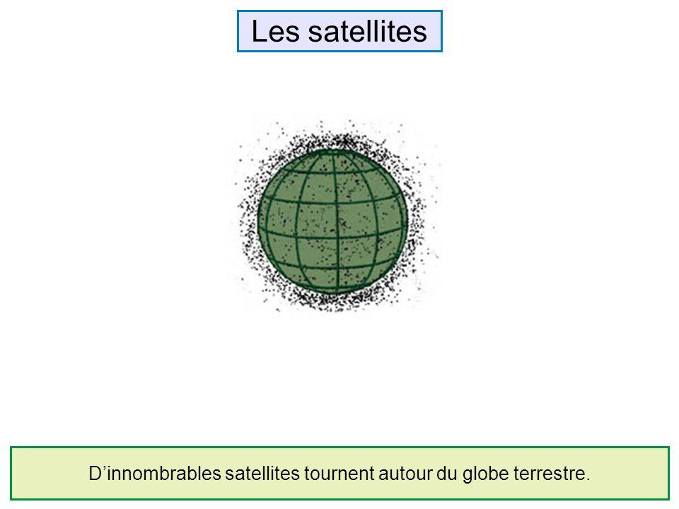 Les satellites Dinnombrables satellites tournent autour du globe terrestre.