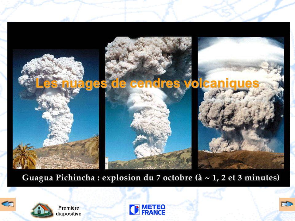 Première diapositive Les nuages de cendres volcaniques