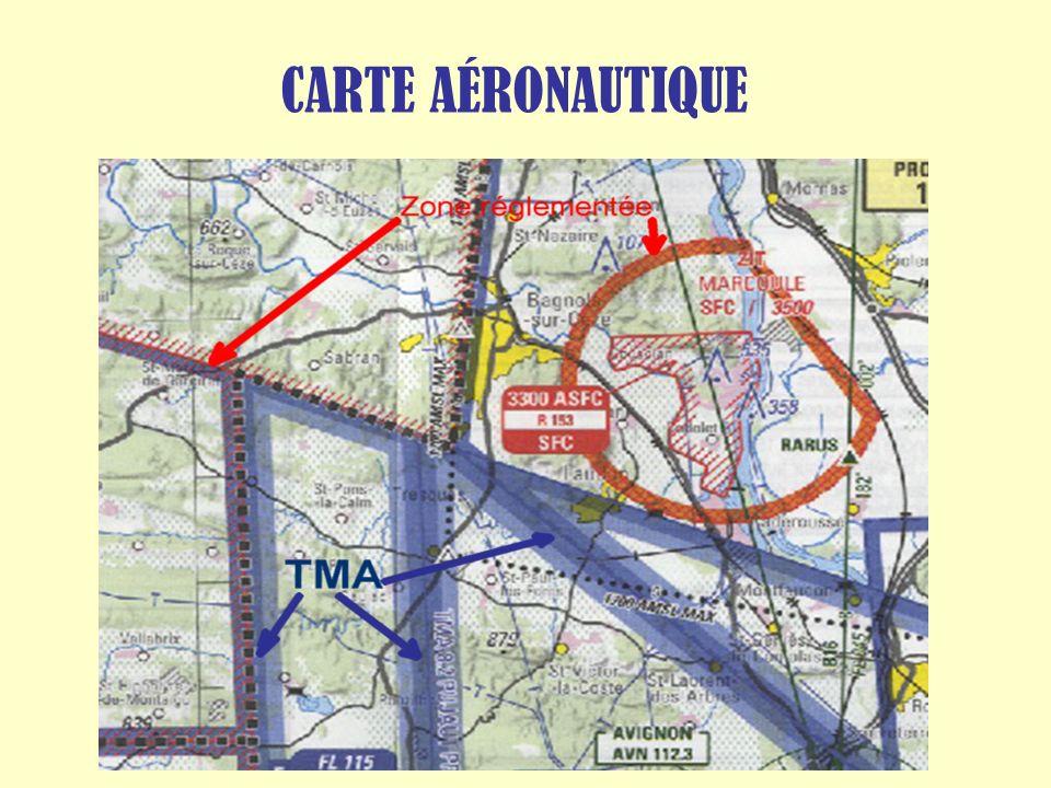 CARTE AÉRONAUTIQUE