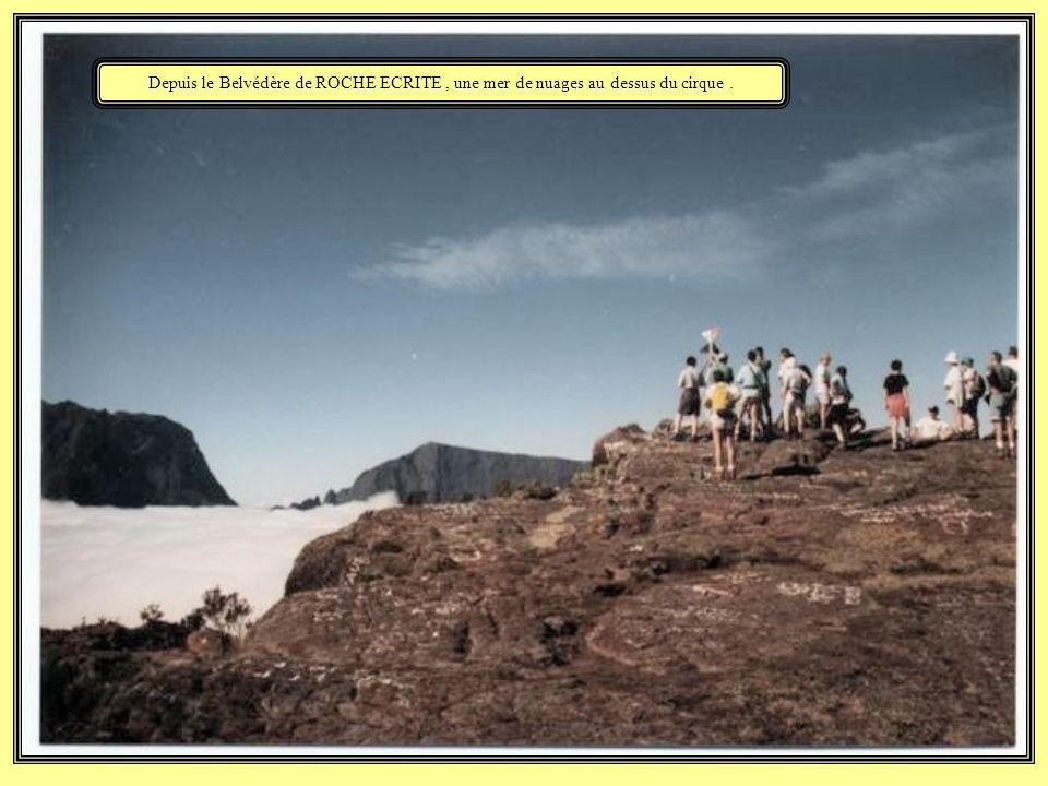 Le groupe traversant la plaine des Chicots.