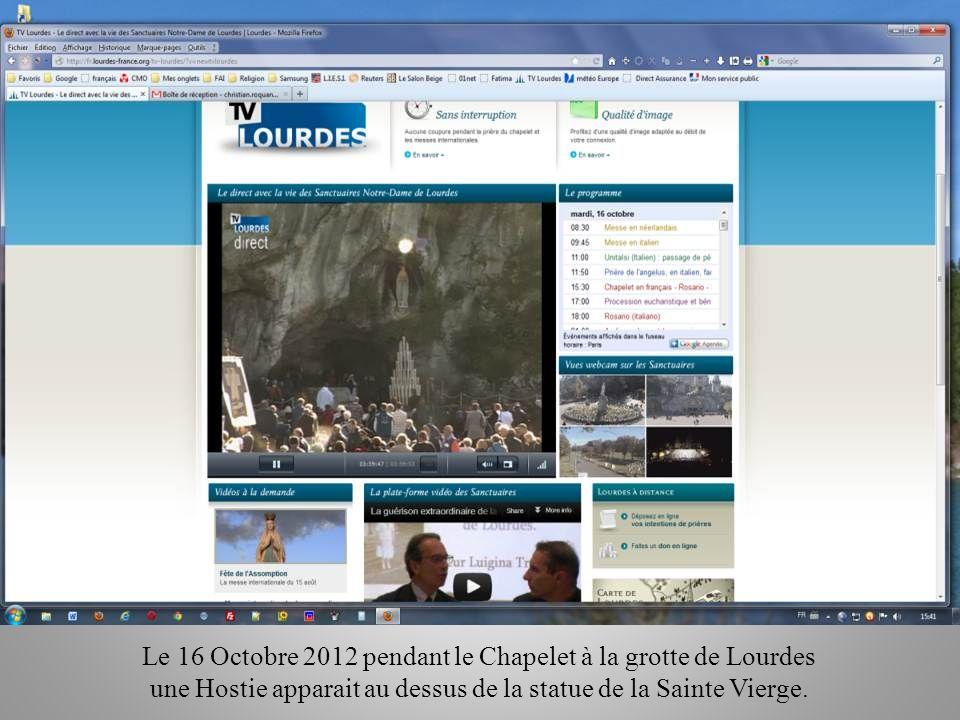 Entre le 16 et le 20 Octobre 2012 De nombreux évènements ce sont passés Jai décidé de créer ce PPS pour vous en faire prendre connaissance.