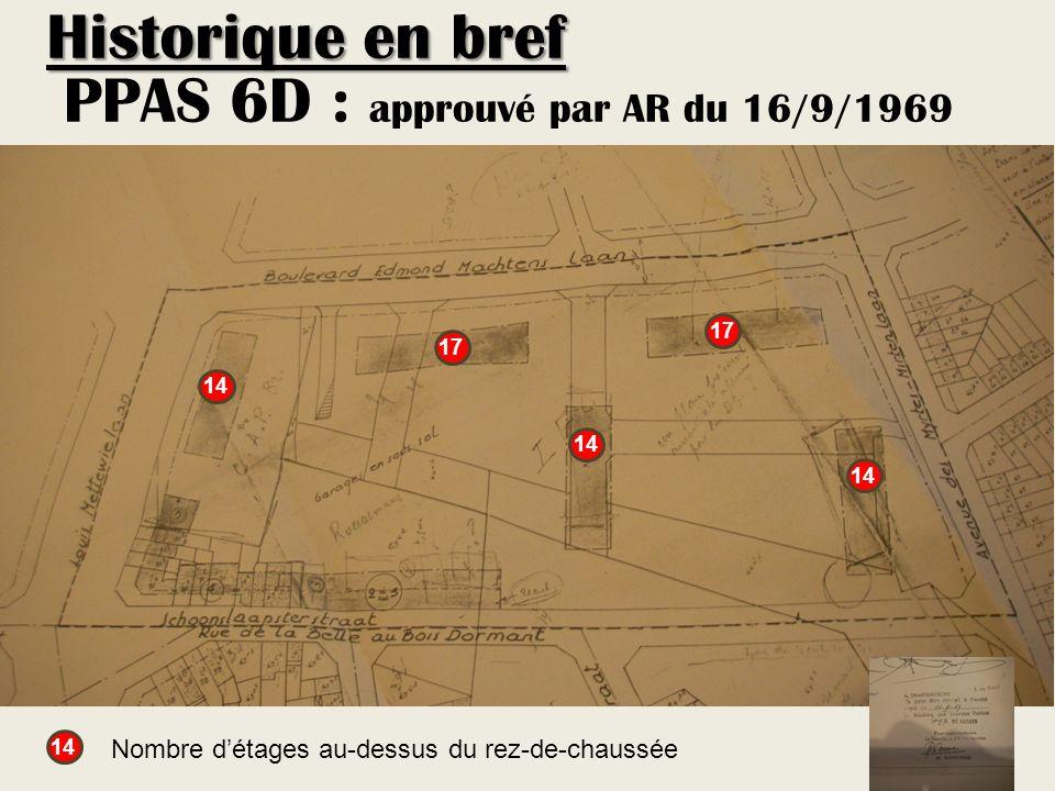 PPAS 6D : approuvé par AR du 16/9/1969 17 14 17 14 Nombre détages au-dessus du rez-de-chaussée Historique en bref