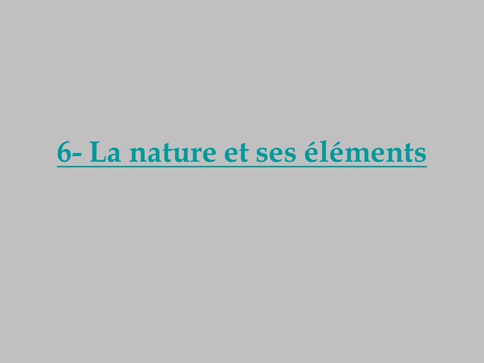 6- La nature et ses éléments