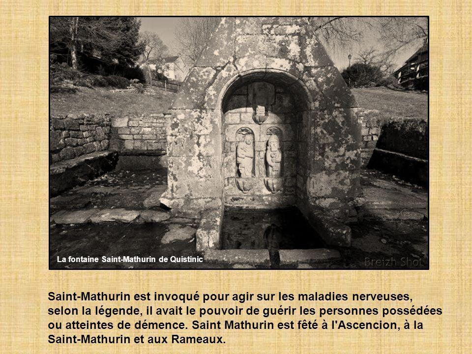 Saint-Mathurin est invoqué pour agir sur les maladies nerveuses, selon la légende, il avait le pouvoir de guérir les personnes possédées ou atteintes de démence.
