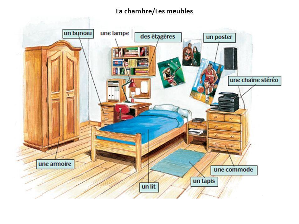 La chambre/Les meubles