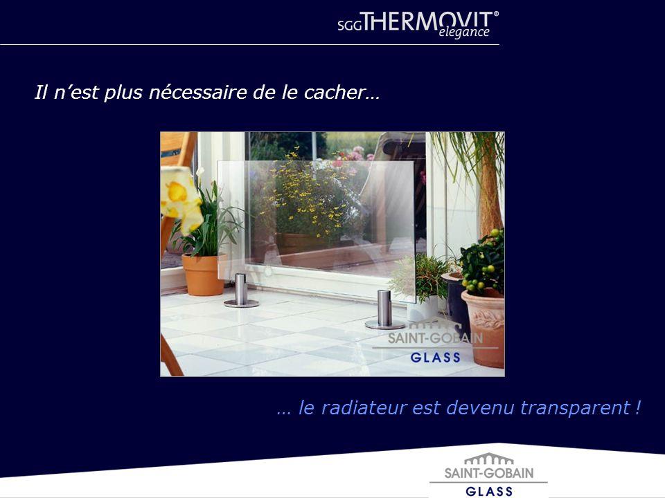 Il nest plus nécessaire de le cacher… … le radiateur est devenu transparent !