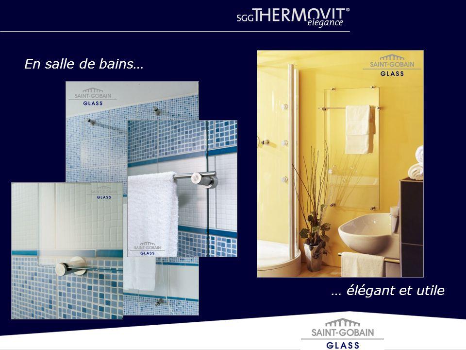 … élégant et utile En salle de bains…