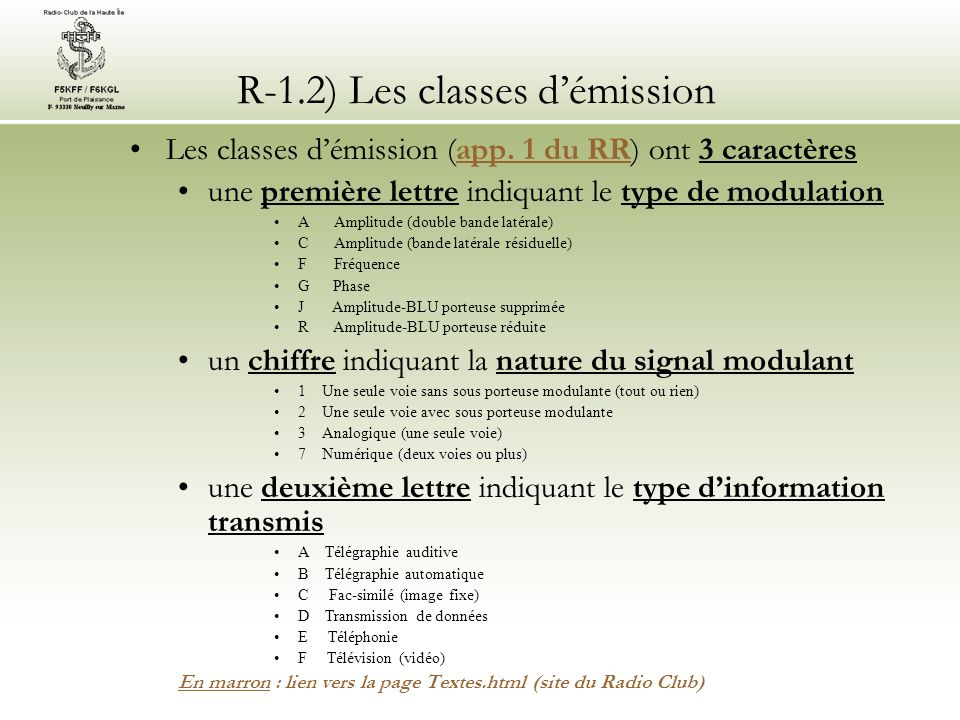 R-1.2) Les classes démission Les classes démission (app.