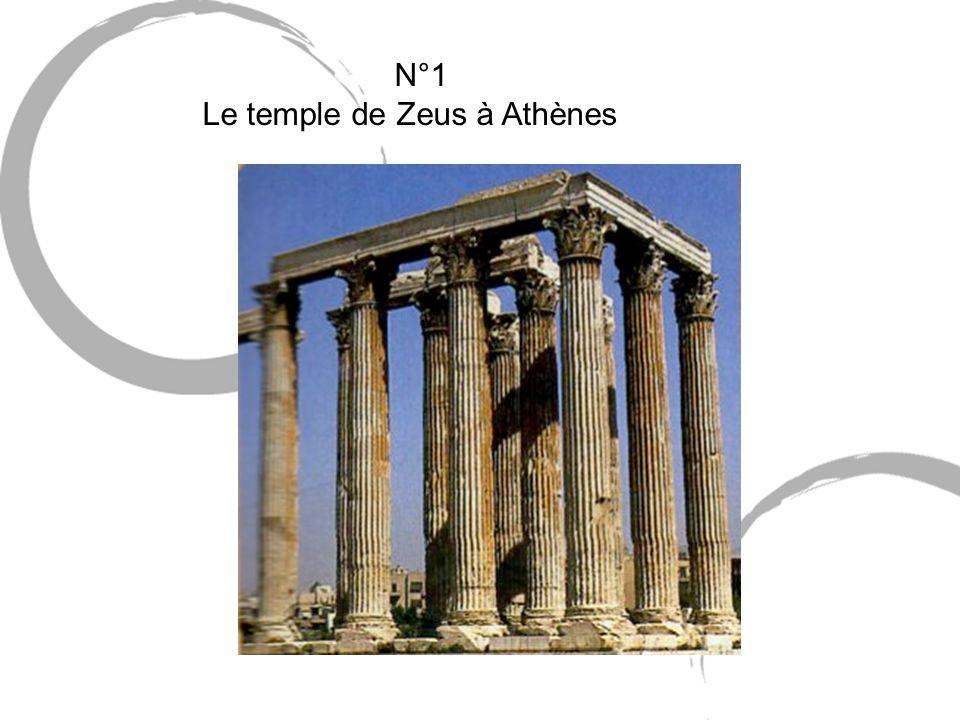 N°1 Le temple de Zeus à Athènes