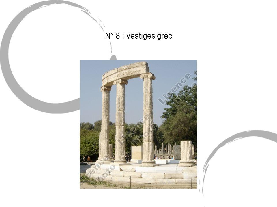 N° 8 : vestiges grec