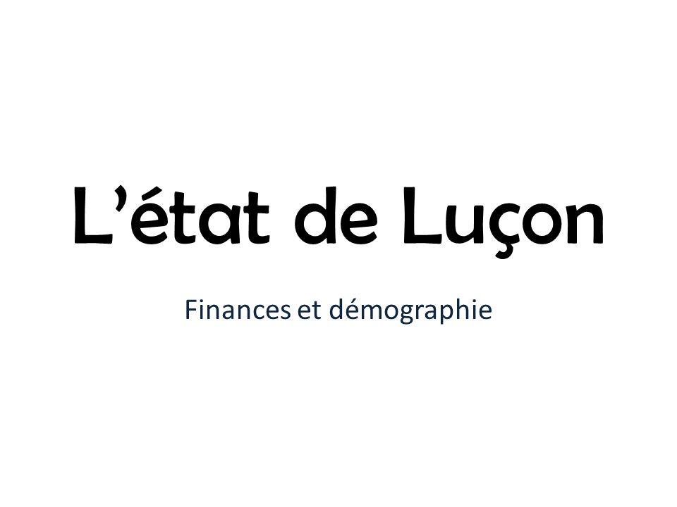 Létat de Luçon Finances et démographie