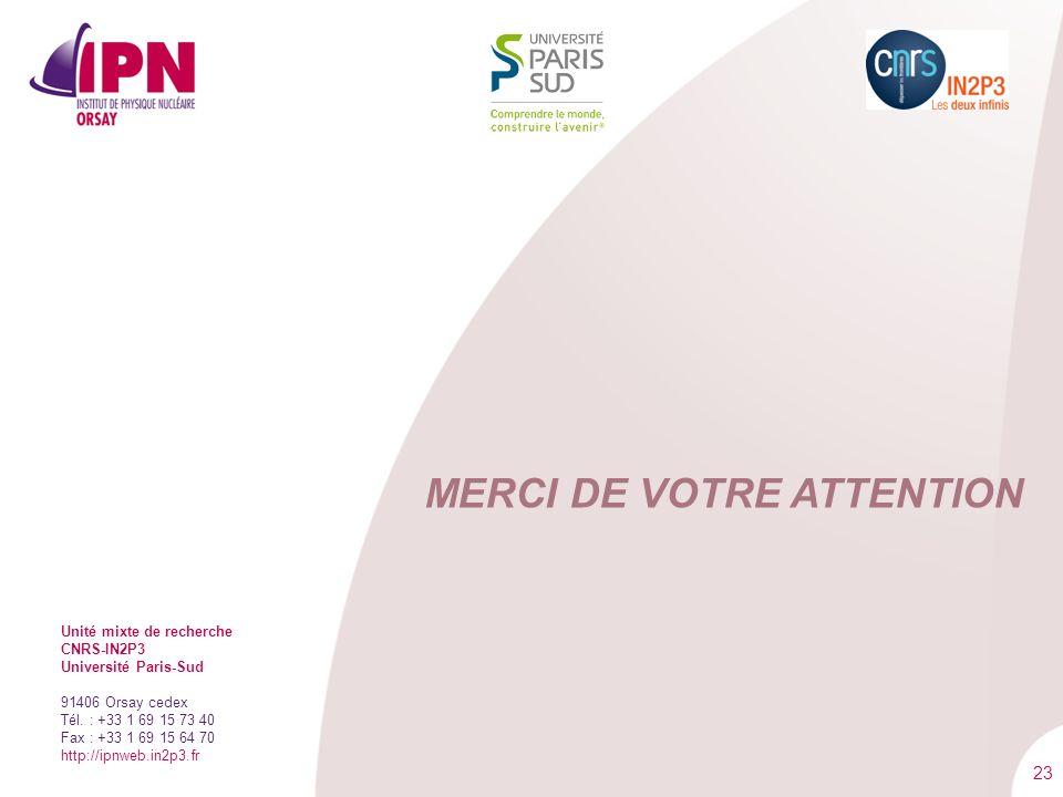 23 Unité mixte de recherche CNRS-IN2P3 Université Paris-Sud 91406 Orsay cedex Tél. : +33 1 69 15 73 40 Fax : +33 1 69 15 64 70 http://ipnweb.in2p3.fr
