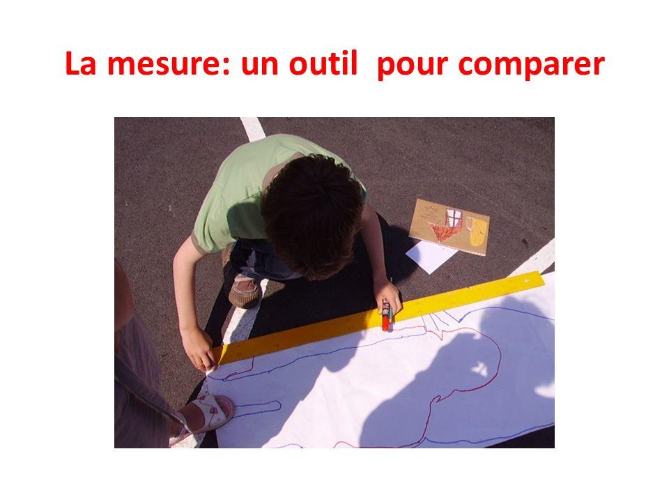 La mesure: un outil pour comparer