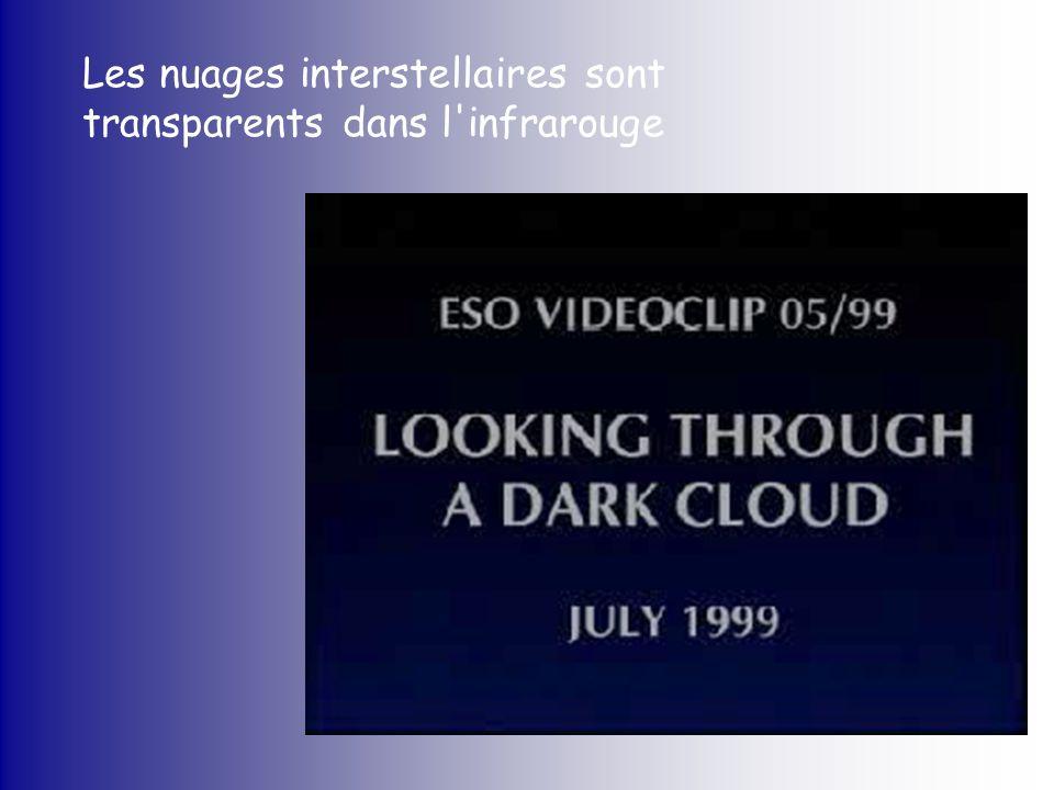 Les nuages interstellaires sont transparents dans l'infrarouge