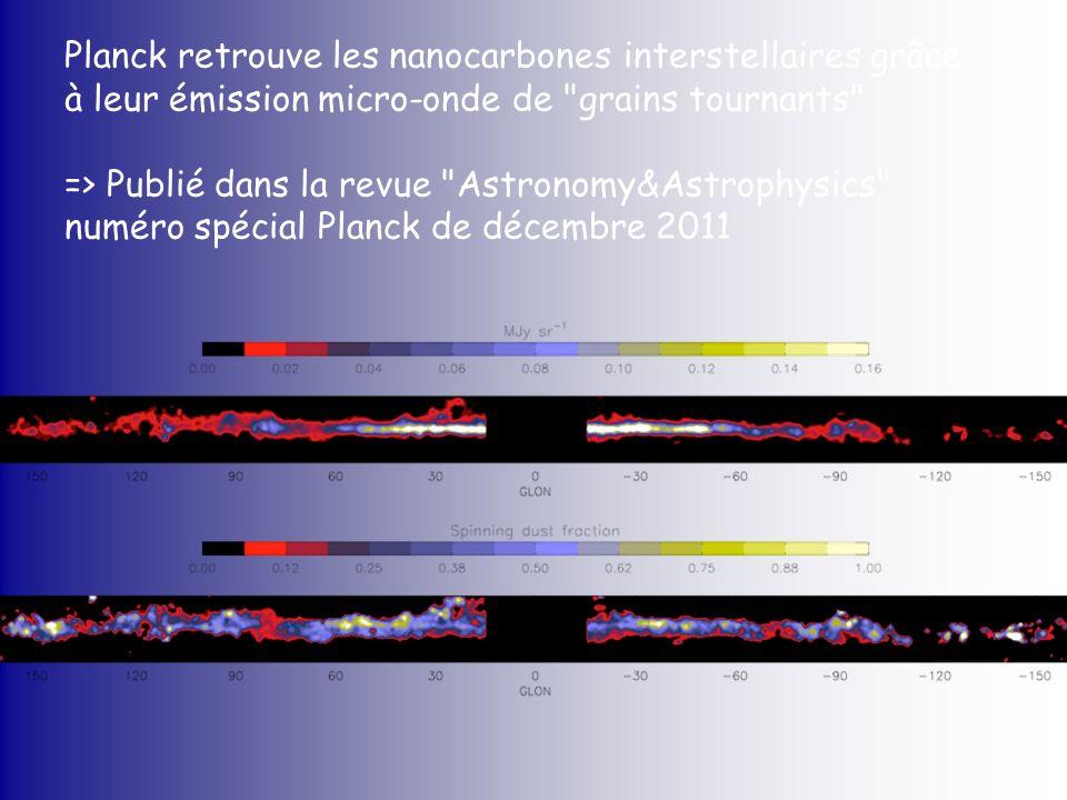 Planck retrouve les nanocarbones interstellaires grâce à leur émission micro-onde de