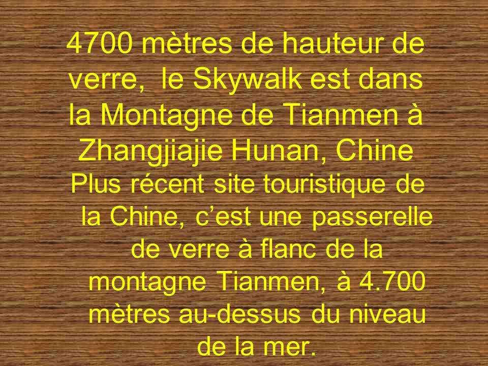 4700 mètres de hauteur de verre, le Skywalk est dans la Montagne de Tianmen à Zhangjiajie Hunan, Chine Plus récent site touristique de la Chine, cest