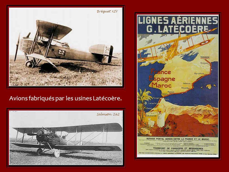 Le 19 Mars 1919, Latécoère et Lemaitre partent pour Rabat. Ils y arrivent le 20 au matin apportant des violettes au Maréchal Lyautey. Lappui de ce der