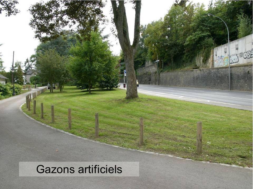 Gazons artificiels