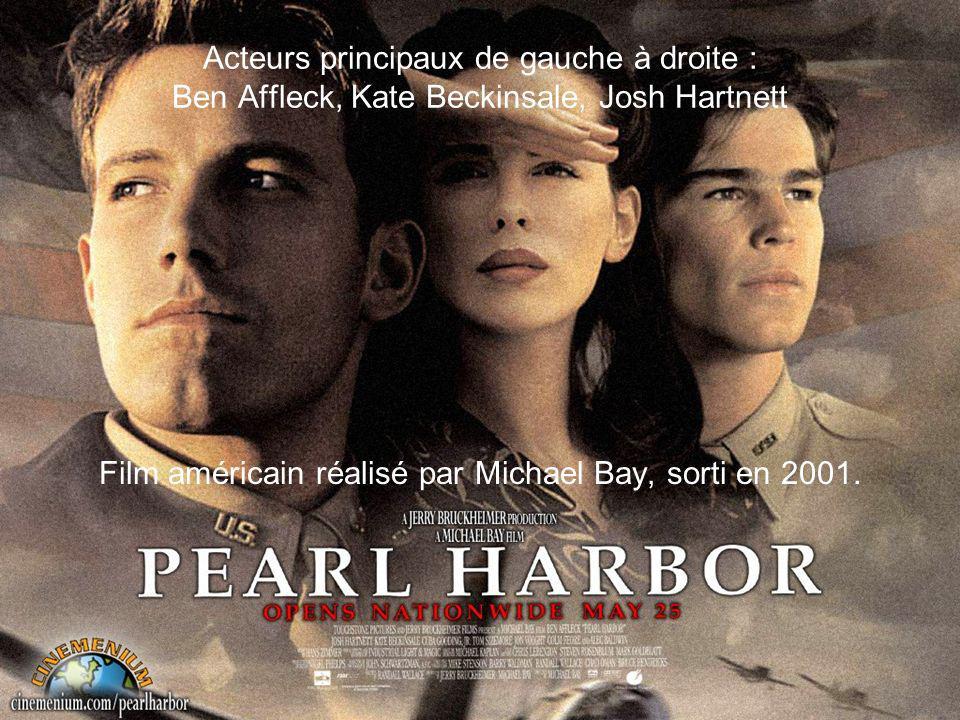 Acteurs principaux de gauche à droite : Ben Affleck, Kate Beckinsale, Josh Hartnett Film américain réalisé par Michael Bay, sorti en 2001.