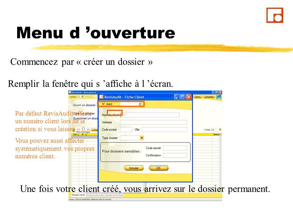 Dossier Permanent Vous arrivez dans le « Dossier Permanent », le premier onglet est « En cours ».