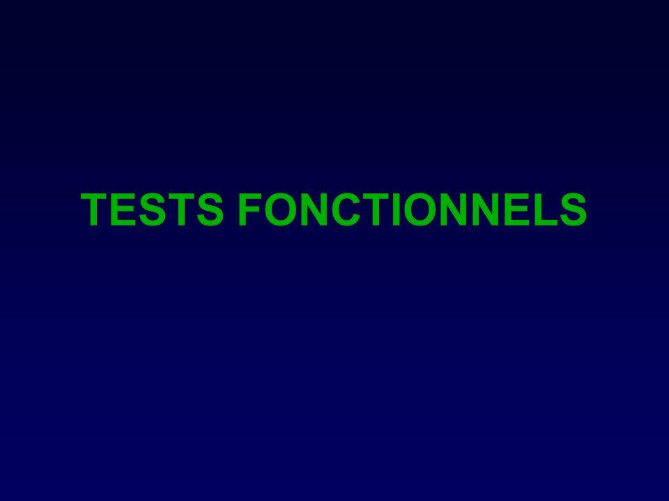 TESTS FONCTIONNELS