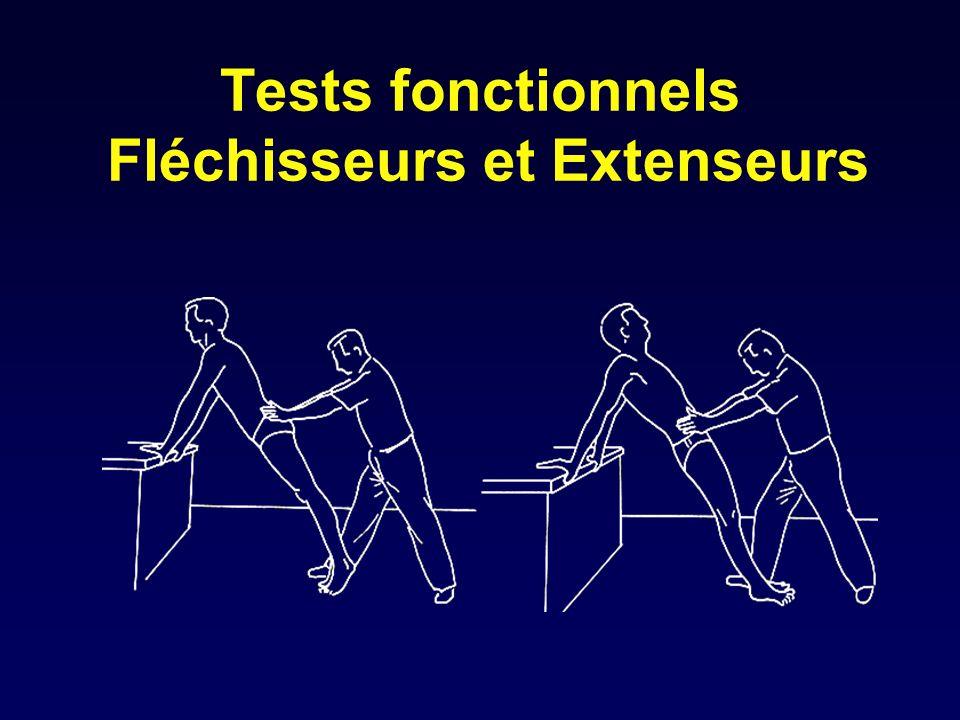 Tests fonctionnels Fléchisseurs et Extenseurs