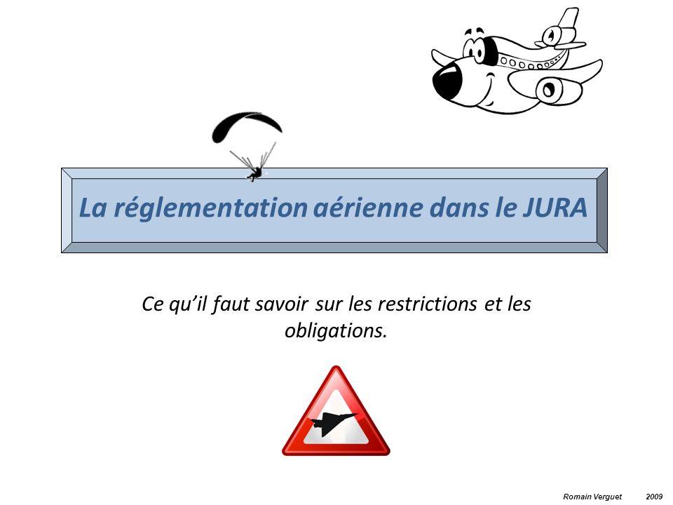 La réglementation aérienne dans le JURA Ce quil faut savoir sur les restrictions et les obligations. Romain Verguet 2009