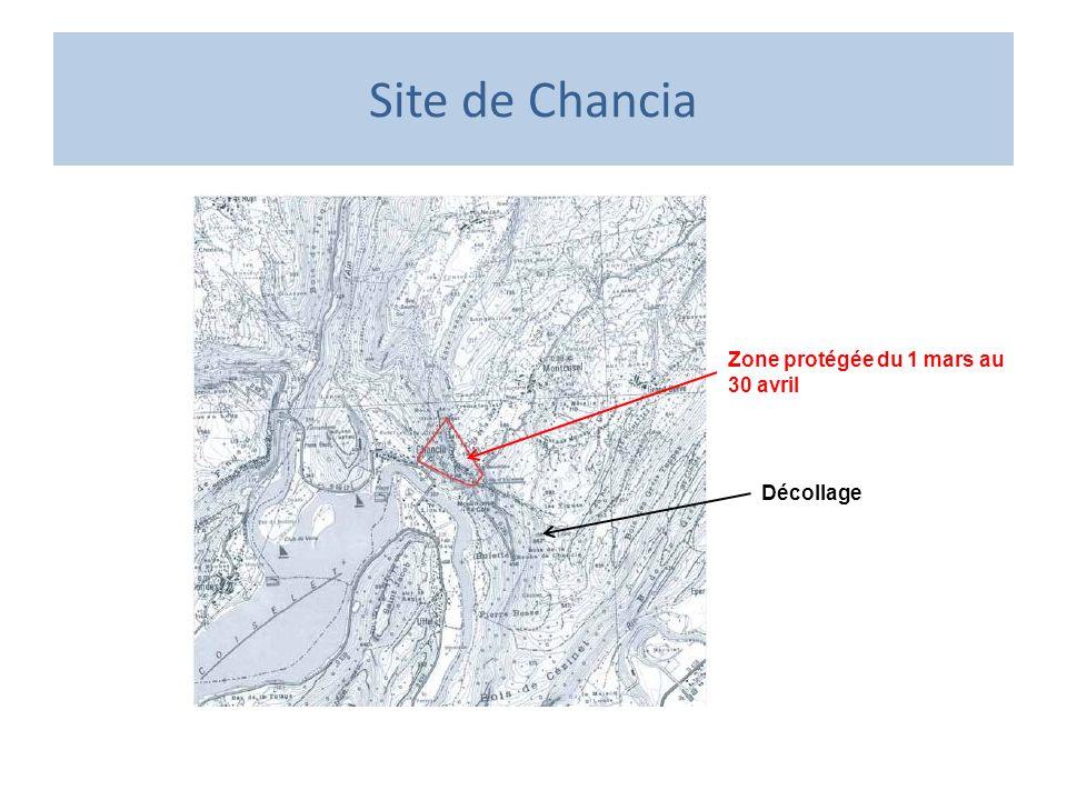 Site de Chancia Décollage Zone protégée du 1 mars au 30 avril
