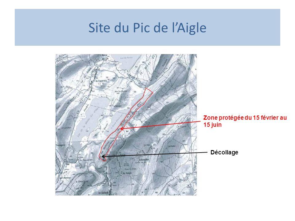 Site du Pic de lAigle Décollage Zone protégée du 15 février au 15 juin