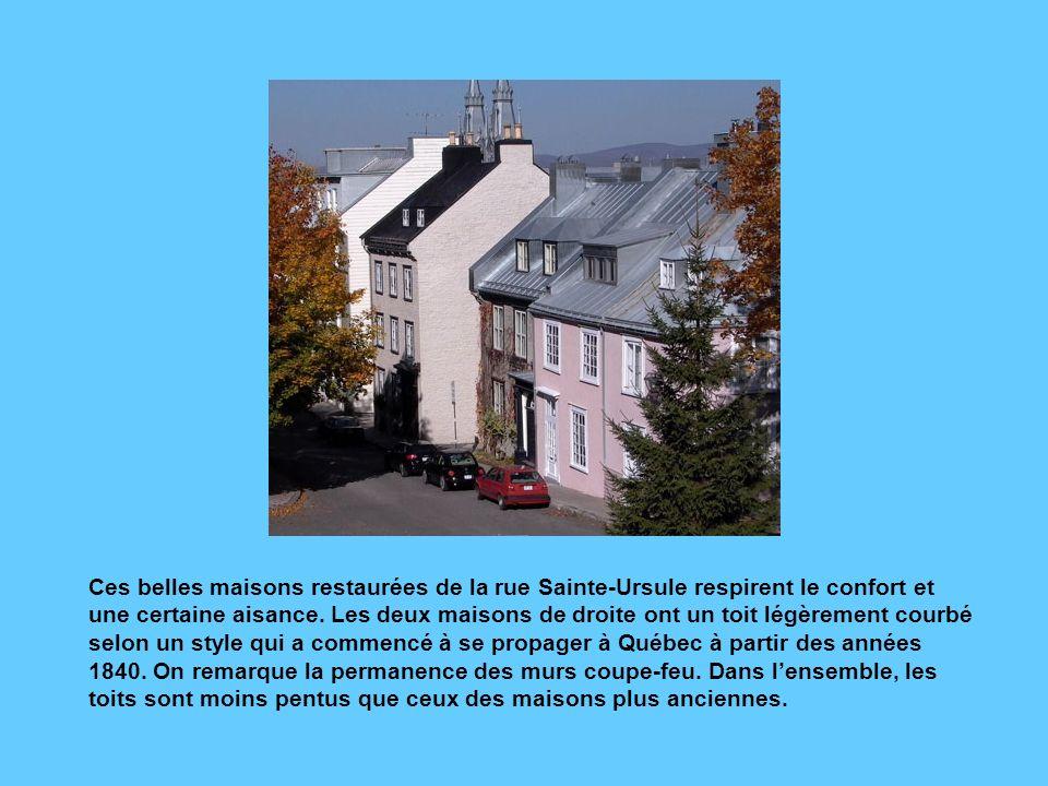 La rue Saint-Denis, qui longe le parc de la Citadelle, a été construite sous le Régime britannique. Elle est strictement résidentielle, selon la coutu