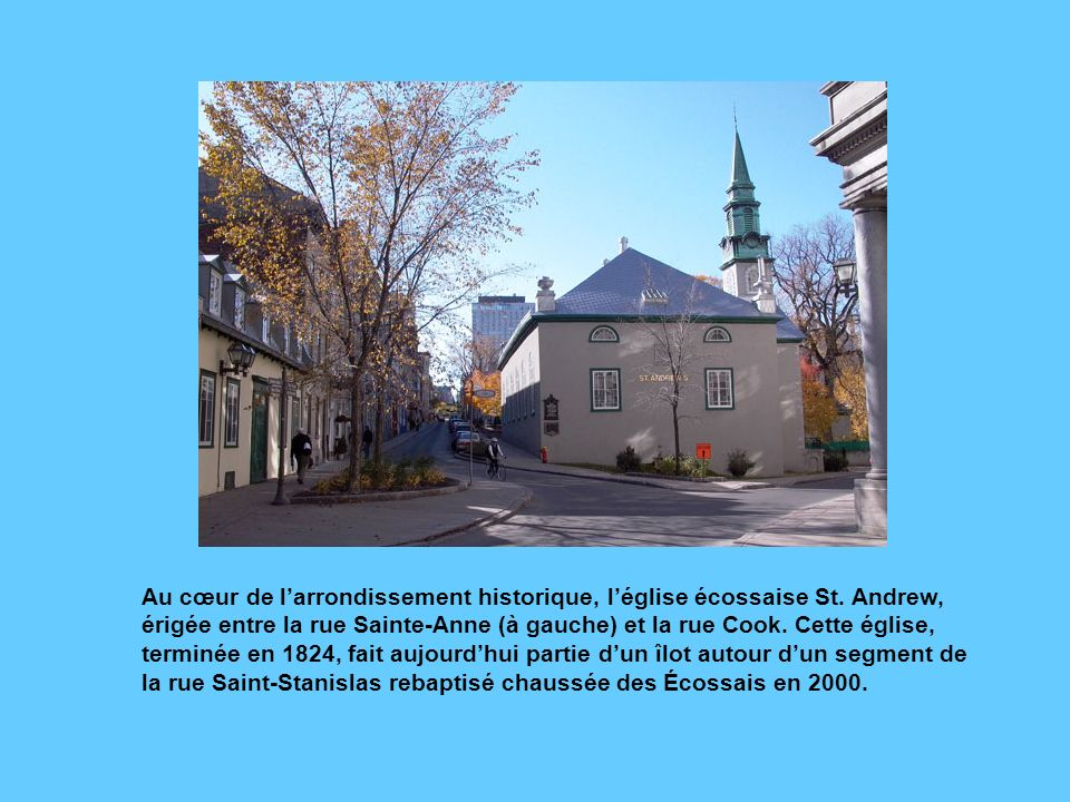 La maison Stuart est située à langle de la rue Cartier et de la Grande- Allée.