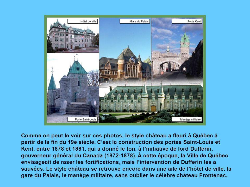 Vue panoramique de larrondissement historique depuis la porte Saint-Louis. Lhéritage britannique saute aux yeux : tout à fait à gauche, les pierres de