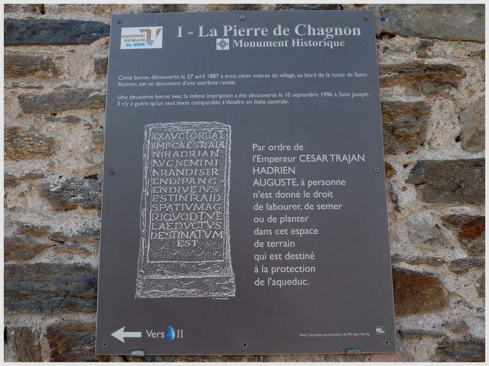 L'AQUEDUC DU GIER Construit par les romains au début de notre ère, l'aqueduc du Gier devait amener l'eau depuis Saint-Chamond jusqu'à Fourvière, à tra