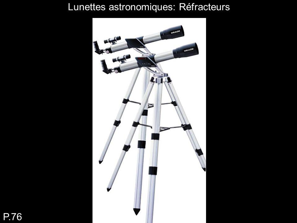Tracé de la lumière dans une lunette astronomique P.76