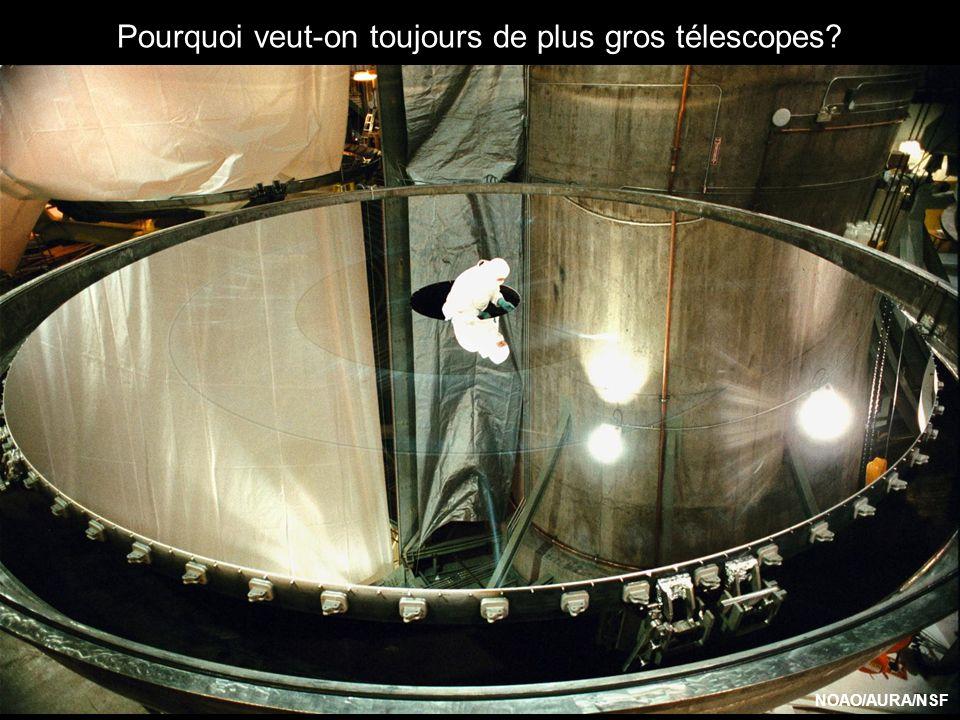 Pourquoi veut-on toujours de plus gros télescopes NOAO/AURA/NSF