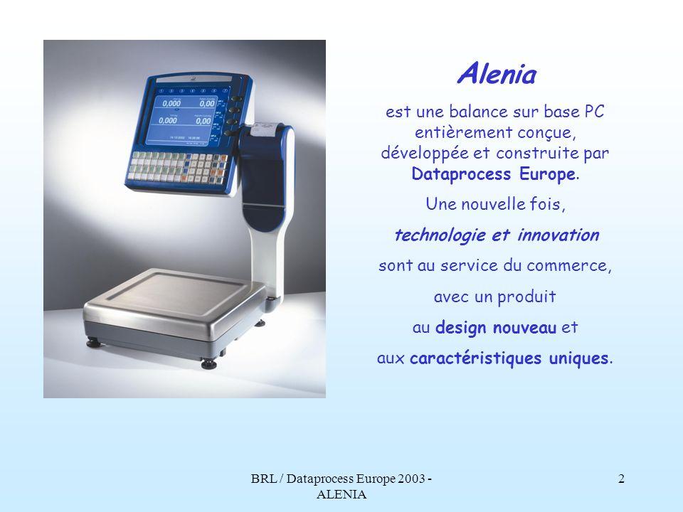 BRL / Dataprocess Europe 2003 - ALENIA 1 Dataprocess Europe et BRL présentent