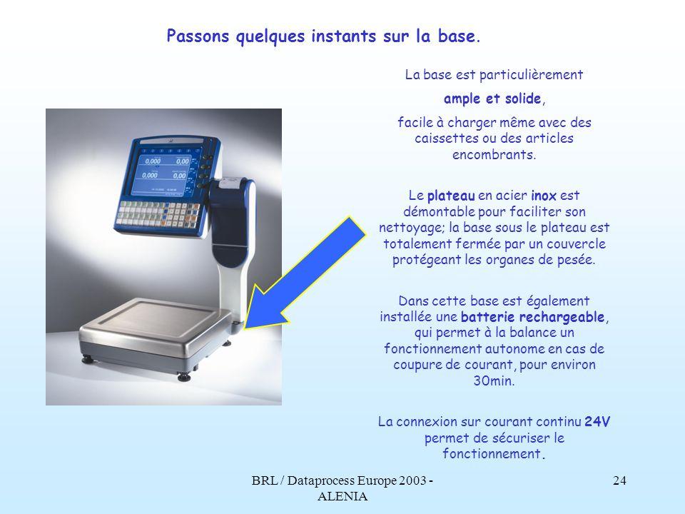 BRL / Dataprocess Europe 2003 - ALENIA 23 La version pour ticket adhésif ou étiquette, permet dutiliser différents modèles ainsi que des dimensions variées de papier: des résultats meilleurs pour un coût réduit.