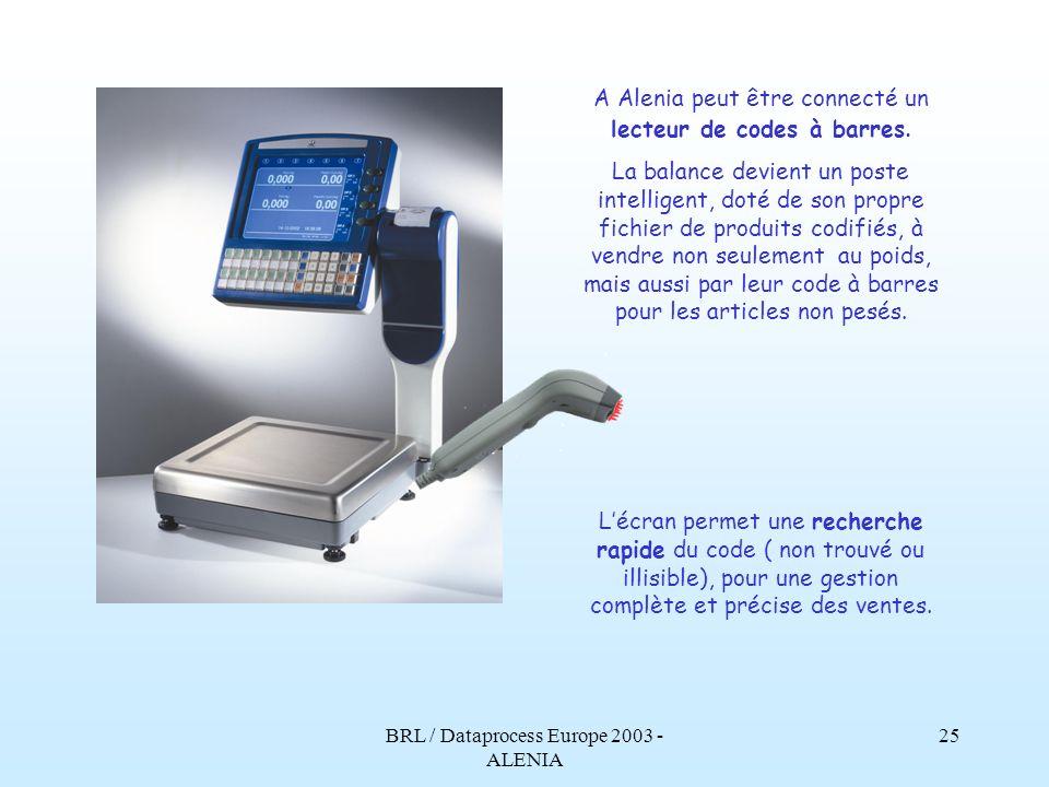 BRL / Dataprocess Europe 2003 - ALENIA 24 La base est particulièrement ample et solide, facile à charger même avec des caissettes ou des articles encombrants.