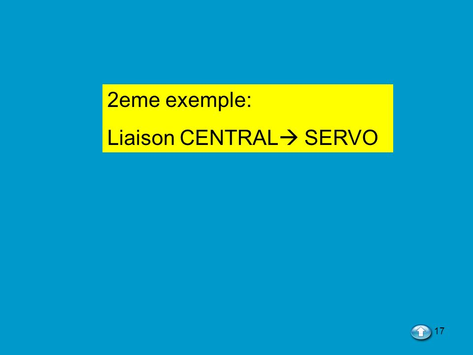17 2eme exemple: Liaison CENTRAL SERVO