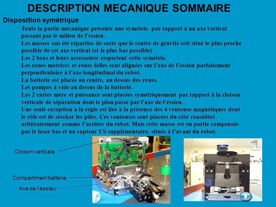 5 DESCRIPTION MECANIQUE SOMMAIRE Le chassis La partie basse est réalisée en tôle daluminium.