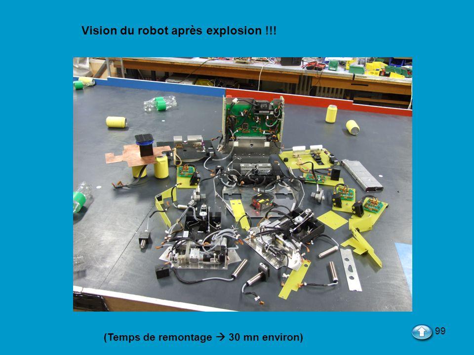 99 Vision du robot après explosion !!! (Temps de remontage 30 mn environ)