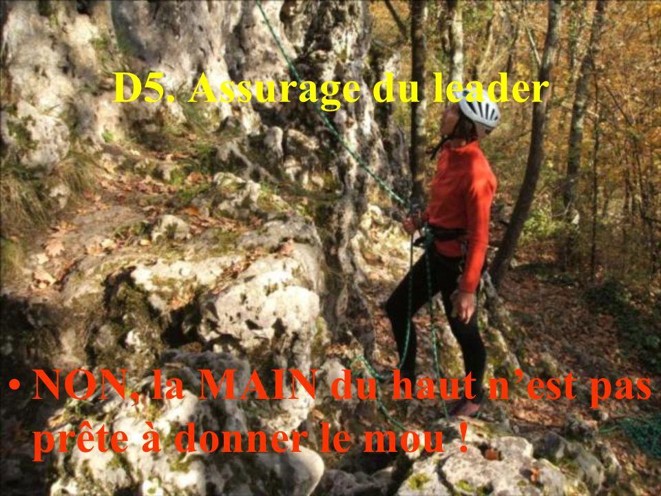 D5. Assurage du leader NON, la MAIN du haut nest pas prête à donner le mou !