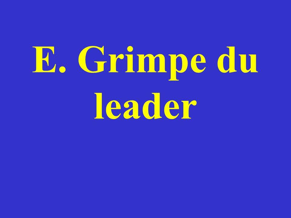 E. Grimpe du leader