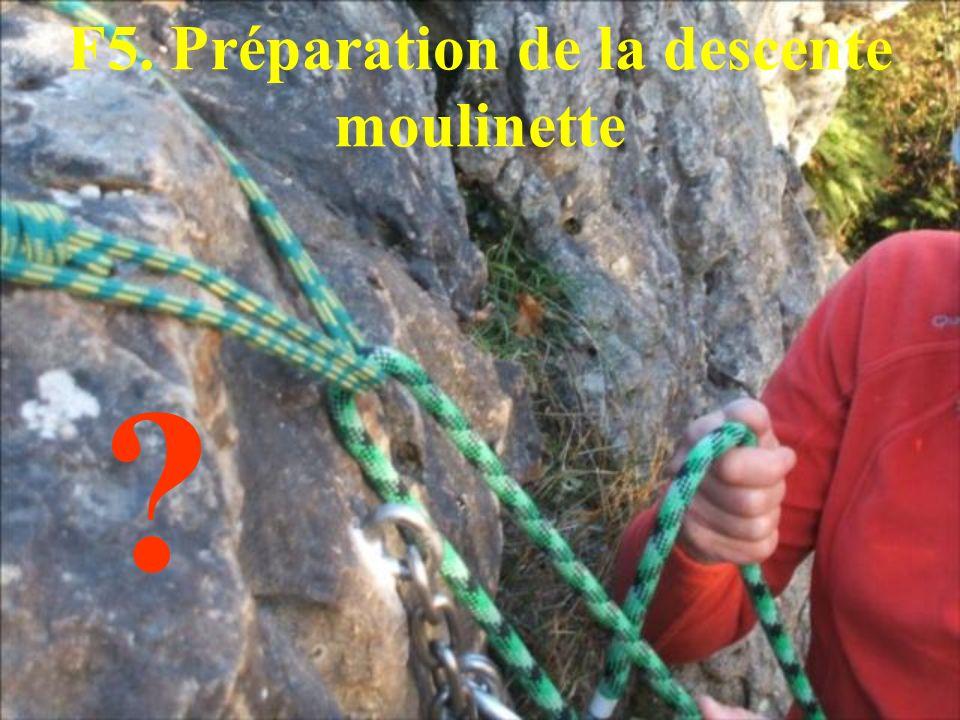 F5. Préparation de la descente moulinette ?