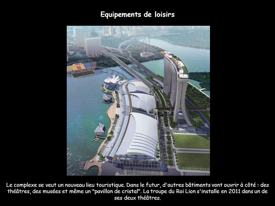 Rivaliser avec Las Vegas Le complexe, qui a coûté près de 6 milliards de dollars, est unique à Singapour. Réalisé par le groupe Las Vegas Sand, propri
